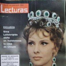 Collectionnisme de Magazines: LECTURAS Nº 603 D 1963- GINA LOLLOBRIGIDA- SOFIA LOREN- GRACE MONACO- JAYNE MANSFIELD- YOLI RAY CHAR. Lote 198824138