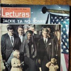 Coleccionismo de Revistas: LECTURAS Nº 607 D 1963- JOHN F KENNEDY- LOLA FLORES- SALOME- MINA- ROCIO DURCAL- MARISOL RITA PAVONE. Lote 198825370
