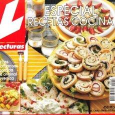 Coleccionismo de Revistas: REVISTA LECTURAS ESPECIAL RECETAS COCINA. Nº 9. Lote 200575405