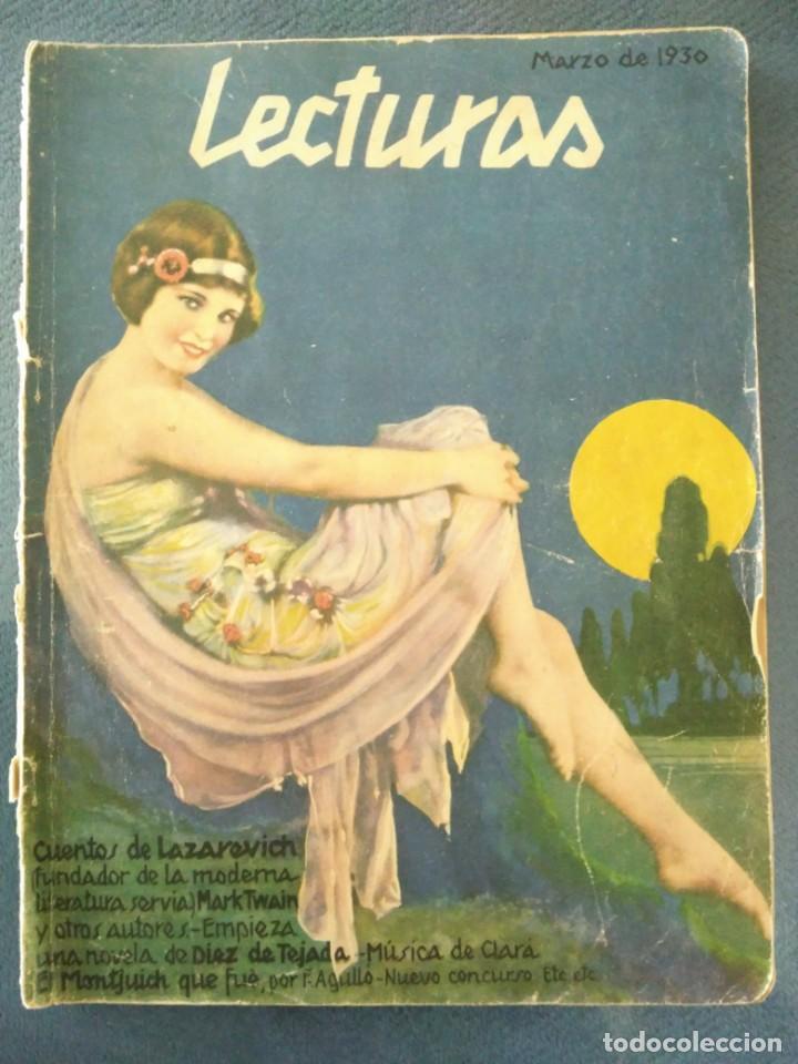 REVISTA LECTURAS, MARZO DE 1930, MONTJUICH (Coleccionismo - Revistas y Periódicos Modernos (a partir de 1.940) - Revista Lecturas)