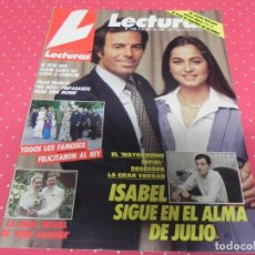 Collectionnisme de Magazines: REVISTA LECTURAS 1986 Nº1786 ISABEL PREYSLER Y JULIO IGLESIAS - MADONNA - RAPHAEL - MIKE HAMMER. Lote 201992288