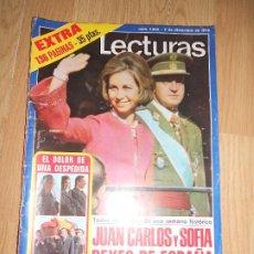 Collectionnisme de Magazines: LECTURAS Nº 1233 5 DICIEMBRE 1975 - JUAN CARLOS Y SOFIA REYES DE ESPAÑA / PROCLAMACION. Lote 202678313