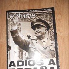 Collectionnisme de Magazines: LECTURAS Nº 1232 28 NOVIEMBRE 1975 - ADIOS A ESPAÑA / FRANCO A MUERTO. Lote 202678857