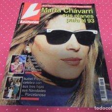Coleccionismo de Revistas: REVISTA LECTURAS Nº2127 / 1993 ROCIO JURADO / PREYSLER / EL SORO / ROCIO JURADO / TOM CRUISE. Lote 203258612