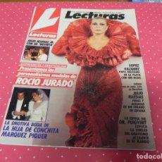 Coleccionismo de Revistas: REVISTA LECTURAS Nº1902 /1988 ROCIO JURADO / CHRISTOPHER ATKINS / JULIO IGLESIAS / ROBERT PALMER. Lote 203385035