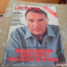 Coleccionismo de Revistas: REVISTA LECTURAS -1687/1984 - RICHARD BURTON / JULIO IGLESIAS Y DIANA ROSS / NADIA COMANECI/. Lote 203920687
