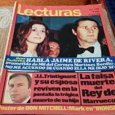Coleccionismo de Revistas: REVISTA LECTURAS Nº1008 /1971 JULIE NIXON / JUAN LUIS GALLARDO / LA PANDILLA /NO CONTIENE POSTER. Lote 204007910