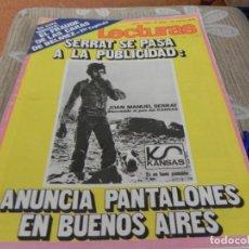 Coleccionismo de Revistas: REVISTA LECTURAS - Nº1038 / 1972 LA CHUNGA / BASILIO / SAN REMO 72 / NEW TROLLS / NO CONTIENE POSTER. Lote 204167711