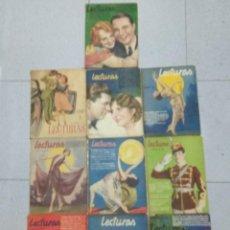 Coleccionismo de Revistas: LOTE DE 10 REVISTAS LECTURAS. Lote 205593178
