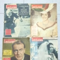 Coleccionismo de Revistas: LOTE DE 4 REVISTAS LECTURAS, Nº 489, 499, 518, 546 .. Lote 205595090