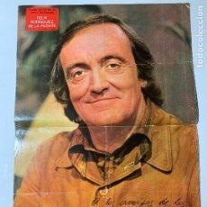 Collectionnisme de Magazines: POSTER DE REVISTA SEMANA DE FELIX RODRIGUEZ DE LA FUENTE CON SU DEDICATORIA/AUTOGRAFO. Lote 205718365