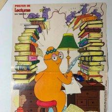 Coleccionismo de Revistas: POSTER DE REVISTA LECTURAS SERIE BARBAPAPA Nº 5 BARBALIB. Lote 205718772