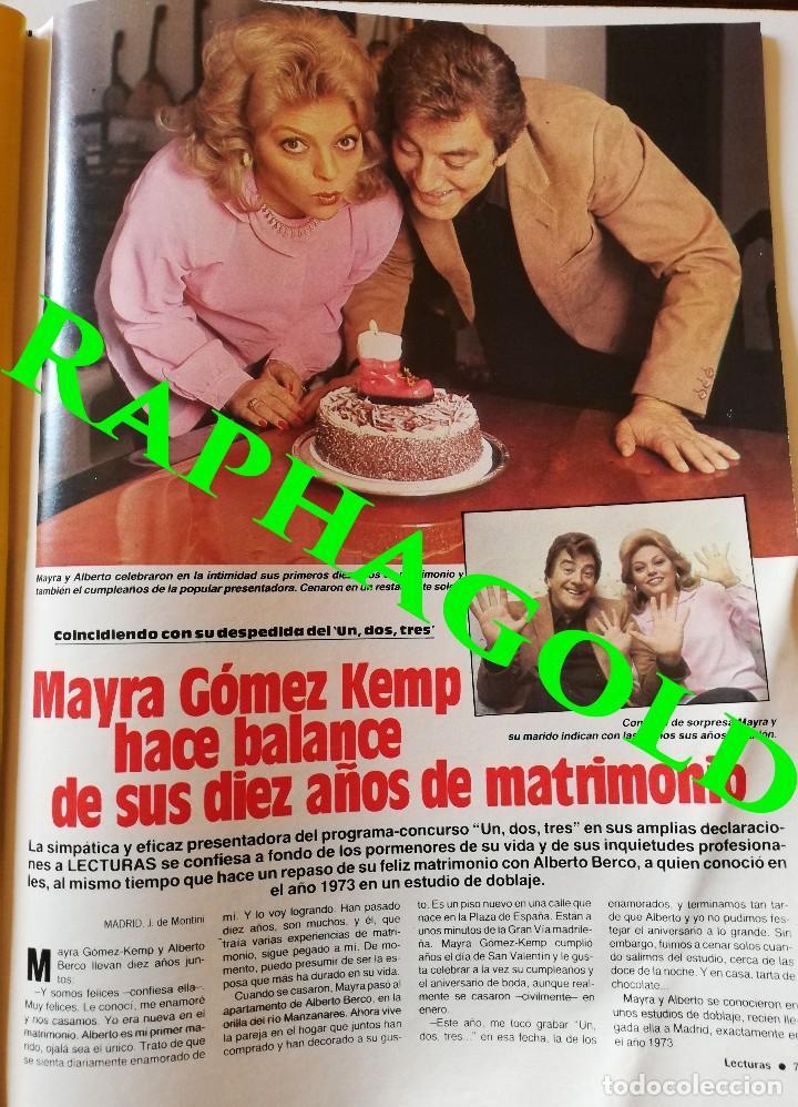 Coleccionismo de Revistas: Revista Lecturas nº 1665 Luis Alfonso Sara Montiel Isabel Pantoja Mayra Gomez Kemp Michael Jackson - Foto 10 - 206206501