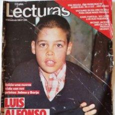 Coleccionismo de Revistas: REVISTA LECTURAS Nº 1665 LUIS ALFONSO SARA MONTIEL ISABEL PANTOJA MAYRA GOMEZ KEMP MICHAEL JACKSON. Lote 206206501