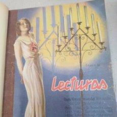 Coleccionismo de Revistas: LECTURAS-REVISTA ANTIGUA MEDIO AÑO ENERO DEL 1931 A JUNIO 1931,. Lote 206521345