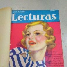 Coleccionismo de Revistas: LECTURAS-REVISTA ANTIGUA MEDIO AÑO N°152 ENERO AL 157 JUNIO 1934,BARAJADO. Lote 206525478