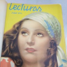 Coleccionismo de Revistas: LECTURAS-REVISTA ANTIGUA MEDIO AÑO JULIO 1932 A DICIEMBRE 1932,BARAJADO. Lote 206526473