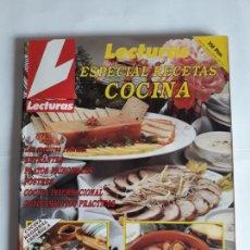Coleccionismo de Revistas: REVISTA LECTURAS ESPECIAL RECETAS COCINA N° 1. AÑOS 90. Lote 206809526