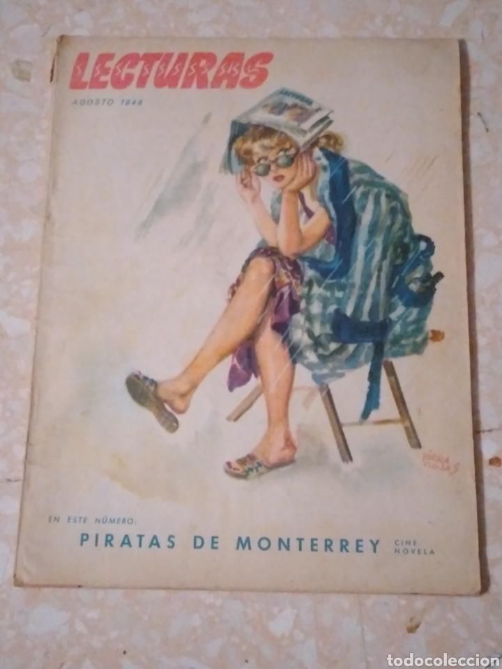 Coleccionismo de Revistas: Revista LECTURAS Agosto 1948 con publicidad años 40 - Foto 2 - 209629473
