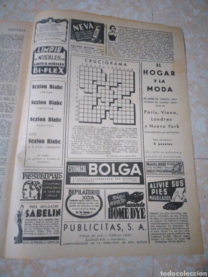 Coleccionismo de Revistas: Revista LECTURAS Agosto 1948 con publicidad años 40 - Foto 9 - 209629473