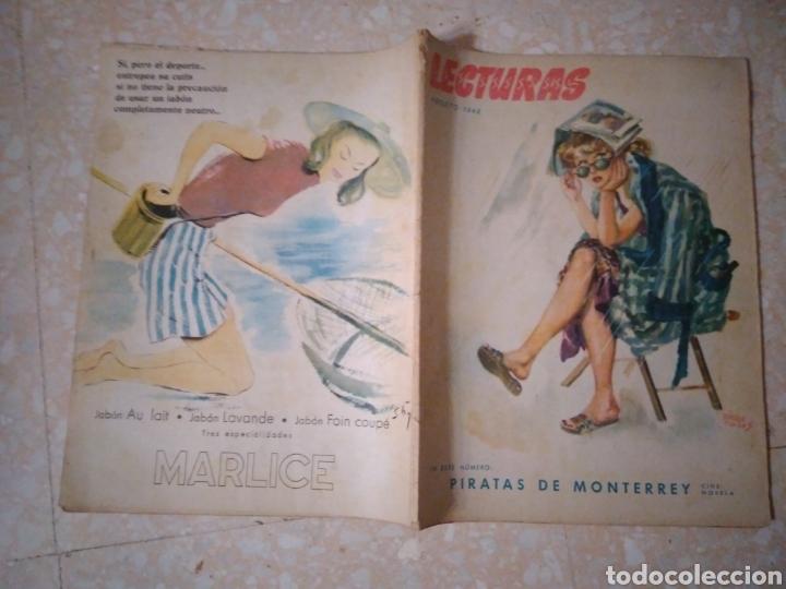 REVISTA LECTURAS AGOSTO 1948 CON PUBLICIDAD AÑOS 40 (Coleccionismo - Revistas y Periódicos Modernos (a partir de 1.940) - Revista Lecturas)