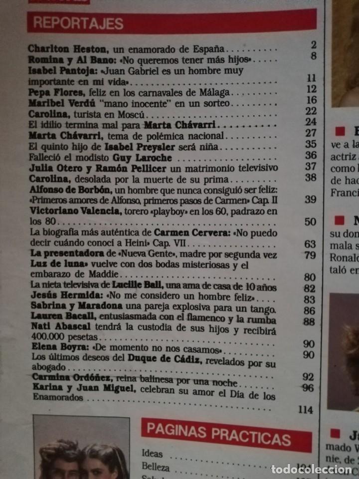 Coleccionismo de Revistas: Revista Semana Lecturas nº 1925 Marta Chavarri Romina Power Isabel Pantoja Marisol Sabrina Salerno - Foto 2 - 213534058