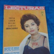 Coleccionismo de Revistas: SOFIA LOREN - ROMY SCHNEIDER - CHARLES BOYER - ELVIS PRESLEY - PELICULA GIGANTE -LECTURAS 1959. Lote 213949650