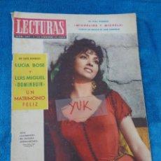 Coleccionismo de Revistas: GINA LOLLOBRIGIDA - LUCIA BOSE Y LUIS MIGUEL DOMINGUIN - JOHN WAYNE ... LECTURAS 1957. Lote 213950176