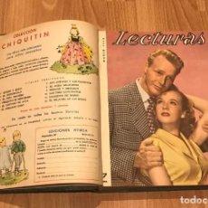 Coleccionismo de Revistas: REVISTA LECTURAS AÑO 1654 DE FEBRERO A DICIEMBRE. Lote 215254748