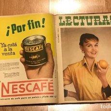 Coleccionismo de Revistas: REVISTA LECTURAS AÑO 1655 DE ENERO A DICIEMBRE 12 REVISTAS. Lote 215255165