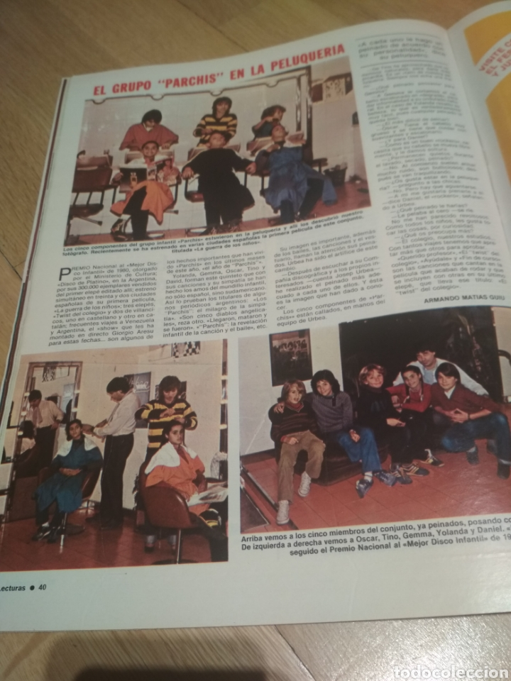 Coleccionismo de Revistas: Revista Lecturas de 1981 Manolo Escobar grupo Parchís Ana Belen - Foto 5 - 215680306
