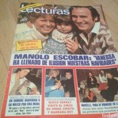 Coleccionismo de Revistas: REVISTA LECTURAS DE 1981 MANOLO ESCOBAR GRUPO PARCHÍS ANA BELEN. Lote 215680306