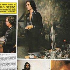 Coleccionismo de Revistas: CAMILO SESTO: REPORTAJE GRÁFICO DE SU FACETA DE PINTOR. MEDIADOS DE LOS AÑOS 70. Lote 215764728