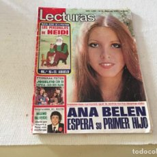 Coleccionismo de Revistas: LECTURAS 1976 ANA BELEN HEIDI MARISOL Mª DEL MAR BONET BETTY MISSIEGO CULLERA JUAN PARDO JOSELITO. Lote 215994746