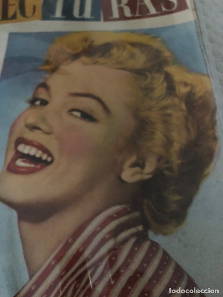 Coleccionismo de Revistas: Marilyn Monroe portada Iconica Lecturas 1953 - Foto 3 - 217310323