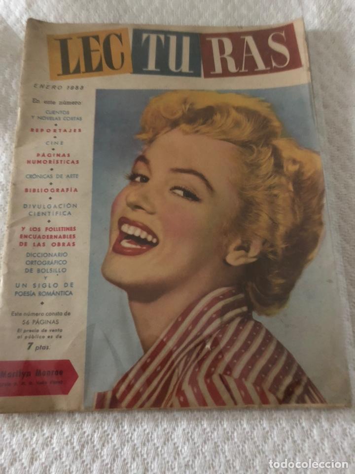 MARILYN MONROE PORTADA ICONICA LECTURAS 1953 (Coleccionismo - Revistas y Periódicos Modernos (a partir de 1.940) - Revista Lecturas)