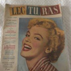 Coleccionismo de Revistas: MARILYN MONROE PORTADA ICONICA LECTURAS 1953. Lote 217310323