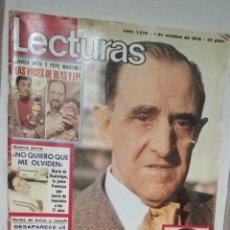 Coleccionismo de Revistas: LECTURAS NUM. 1276. Lote 218354858