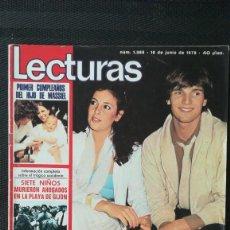 Coleccionismo de Revistas: REVISTA LECTURAS MIGUEL BOSE TIENE NOVIA(ANA OBREGON), SIREX, MUSTANG1978. Lote 218615796
