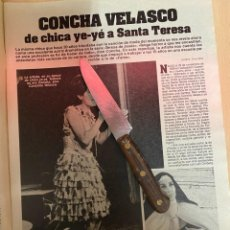 Coleccionismo de Revistas: RECORTE REVISTA LECTURAS Nº1667 AÑO 1984 / CONCHA VELASCO. Lote 221695355