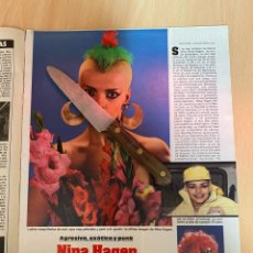Coleccionismo de Revistas: RECORTE REVISTA LECTURAS Nº1667 AÑO 1984 / NINA HAGEN. Lote 221695510