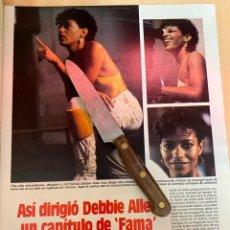 Coleccionismo de Revistas: RECORTE REVISTA LECTURAS Nº1667 AÑO 1984 / DEBBIE ALLEN ( FAMA ). Lote 221695850
