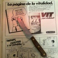 Coleccionismo de Revistas: RECORTE REVISTA LECTURAS Nº1667 AÑO 1984 / TIRA COMICA SNOOPY CARLITOS Y SU PANDILLA. Lote 221696391