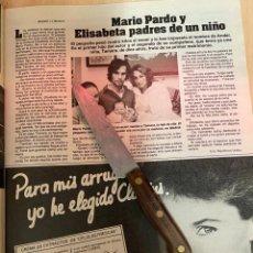 Coleccionismo de Revistas: RECORTE REVISTA LECTURAS Nº1667 AÑO 1984 / MARIO PARDO. Lote 221696651