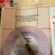 Coleccionismo de Revistas: RECORTE REVISTA LECTURAS Nº1667 AÑO 1984 / ANUNCIO PUBLICIDAD VAJILLA HARMONIA. Lote 221696815
