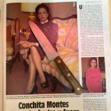 Coleccionismo de Revistas: RECORTE REVISTA LECTURAS Nº1667 AÑO 1984 / CONCHITA MONTES. Lote 221697965