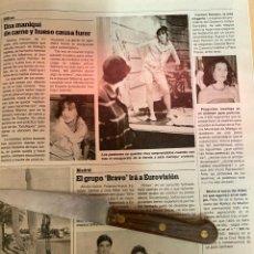 Coleccionismo de Revistas: RECORTE REVISTA LECTURAS Nº1667 AÑO 1984 / GRUPO BRAVO. Lote 221698055