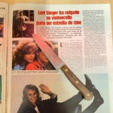Coleccionismo de Revistas: RECORTE REVISTA LECTURAS Nº1667 AÑO 1984 / LORI SINGER. Lote 221698377