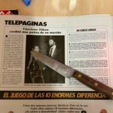 Coleccionismo de Revistas: RECORTE REVISTA LECTURAS Nº1667 AÑO 1984 / CHARLENE TILTON. Lote 221698508