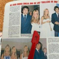 Coleccionismo de Revistas: RECORTE REVISTA LECTURAS Nº1552 / 1982 / EMILIA DE LAS TRILLIZAS DE ORO. Lote 222286772